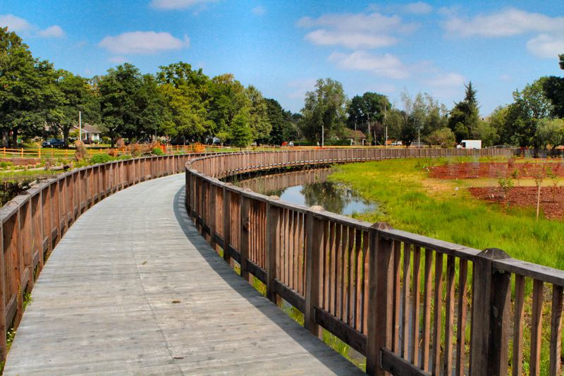by: DAVID F. ASHTON - Many Westmoreland and Sellwood residents are already enjoying the boardwalk that now runs through the north end of Westmoreland Park.