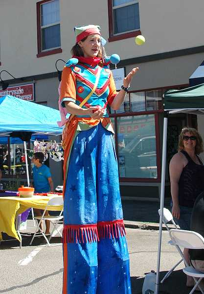 by: ISABEL GAUTSCHI - Artists and performers showcased their unusual talents at the Estacada Summer Celebration.