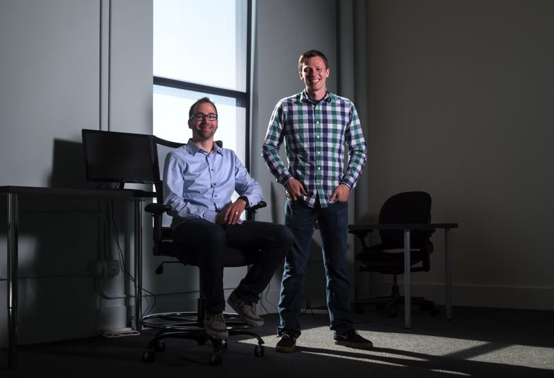 Photo Credit: TRIBUNE PHOTO: JONATHAN HOUSE - Vacasa executives Scott Breon, 30, (left) and Cliff Johnson, 33, have helped make the vacation rental business the fastest-growing company in the Portland area.