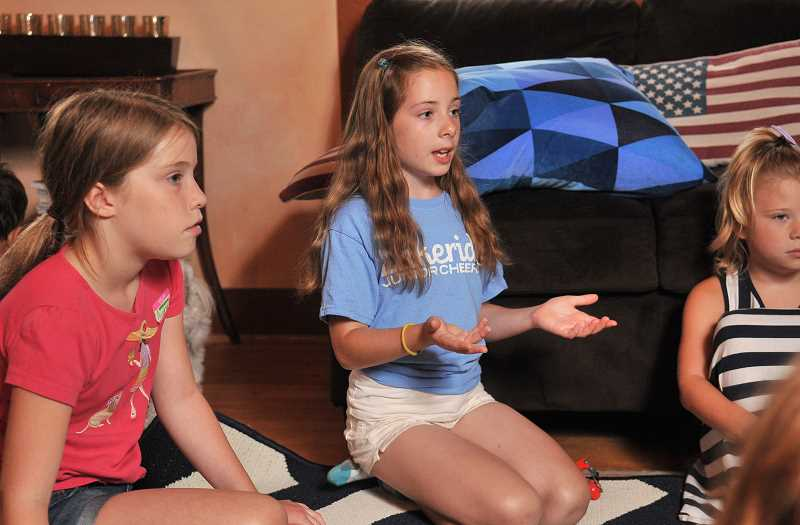 Photo Credit: REVIEW PHOTO: VERN UYETAKE - Sofia Corso has the vocal strength to command the attention of young kids. She and her partner Avery Jett were so encouraged by their success last week that they are making big plans for next summer.