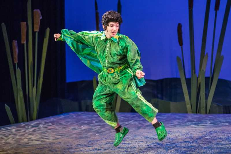 Photo Credit: SUBMITTED PHOTO: DAVID KINDER - Thomas Curran, incoming Lake Oswego High School senior, recently was the bullfrog in a school production of Honk! Curran is one of 65 students accepted into Oregon Shakespeare Festivals 2014 Summer Seminar for High School Juniors.