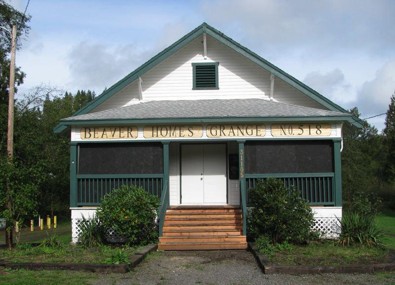 Photo Credit: COURTESY OF BEAVER HOMES GRANGE - The Beaver Homes Grange in Goble. The grange was first organized in 1914, and its centennial anniversary will be celebrated this weekend. Two days of events in and around the grange will give grange members and the public an opportunity to celebrate.