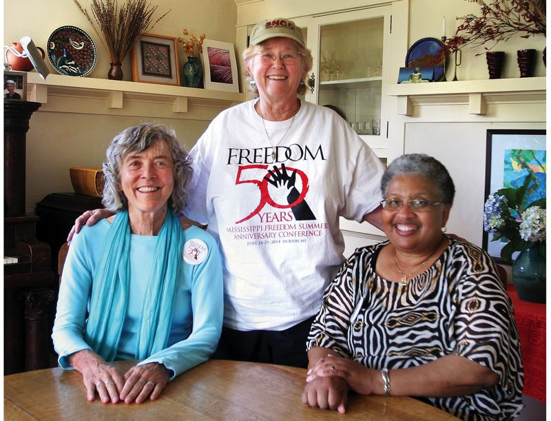 Photo Credit: JIM CLARK - From left: Annie Popkin, Karen Haberman Trusty and Joyce Braden Harris attended the 50th anniversary conference of Freedom Summer in MIssissippi.