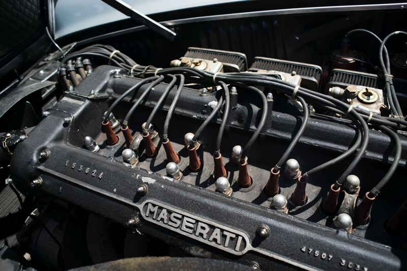 Photo Credit: TRIBUNE PHOTO CHASE ALLGOOD - This Maerati straight six-cylinder, twin spark, double overhead cam engine is in Rick AMrtin's rare 1967 Mistral, which will be at the Coumbia River Concourse on Aug. 3 in Vancouver.