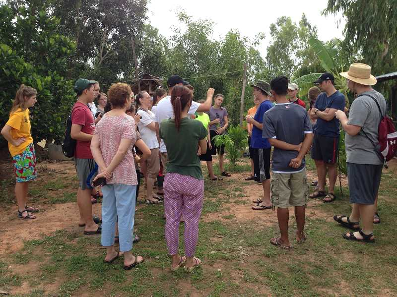 Photo Credit: SUBMITED - Students from Westisde Christian High School in Tigard traveled to Northeast Thailand in June to spend three works working a living in a small village and helping to teach English at a local school.