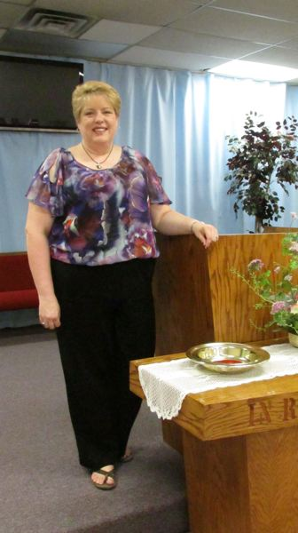 Photo Credit: COURTNEY VAUGHN - Carolyn Thomas settles in as pastor at Morning Star Worship Center, located at 52549 Columbia River Hwy.