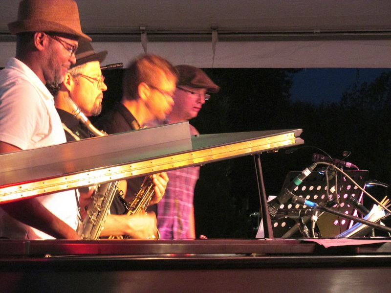 Photo Credit: OUTLOOK PHOTO: BEVERLY CORBELL - SoulCity closed out this years Mt. Hood Jazz Festival at Greshams Arts Plaza Saturday, Aug. 2.