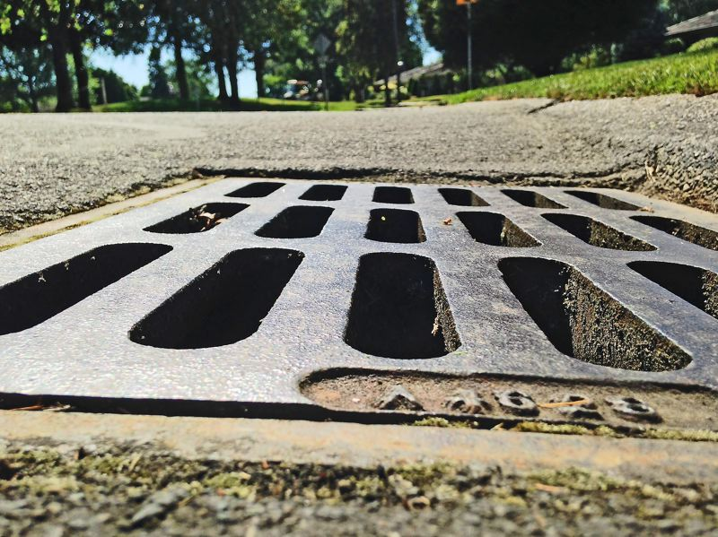 Photo Credit: SPOKESMAN PHOTO: JOSH KULLA - Charbonneaus ailing stormwater system, part of which is shown here, is likely to take up nearly half the cost of a proposed 20-year, $44.5 million overhaul of utilities in the district.