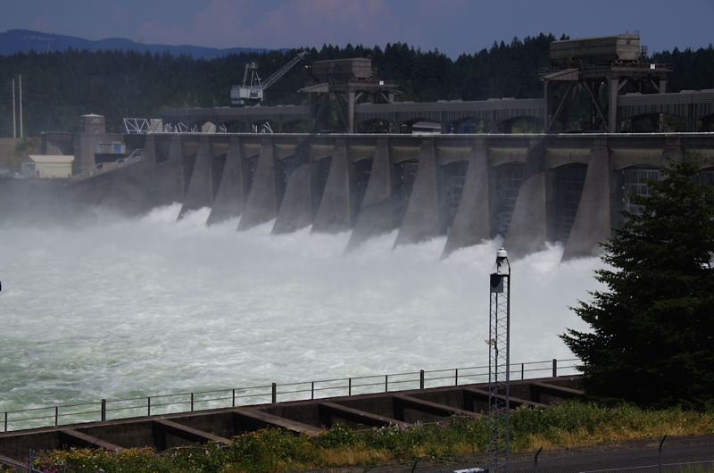 Photo Credit: PHOTO COURTESY OF COLUMBIA RIVERKEEPER - The Army Corps of Engineers agreed to restrict toxic discharges at the Bonneville Dam, shown here, and seven other dams along the Columbia and Snake rivers.