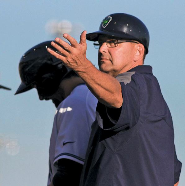 Photo Credit: PAMPLIN MEDIA GROUP: CHASE ALLGOOD - Hillsboro Hops hitting coach Mark Grace keeps the game fun, and he has lots of wisdom to impart on the Northwest League teams young, Single-A players.