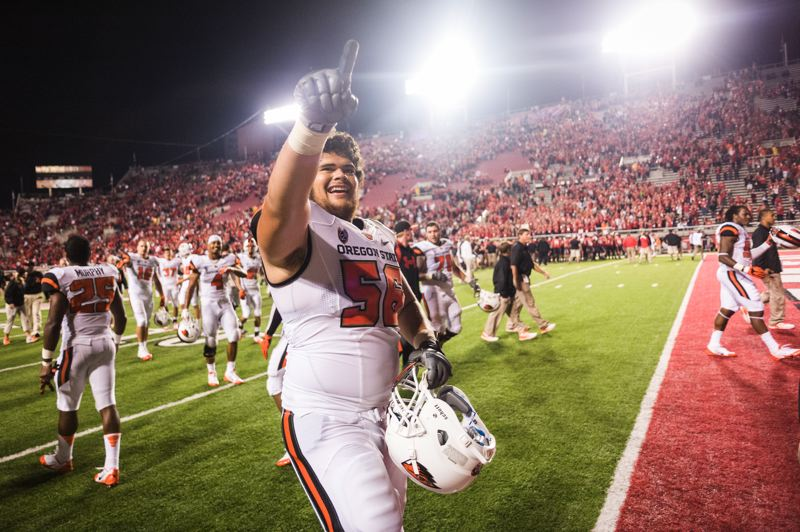 Photo Credit: COURTESY OF KARL MAASDAM - Isaac Seumalo, Oregon States best returning offensive lineman, is likely to miss at least the first one or two games of 2014 as he continues to recover from two offseason foot surgeries.