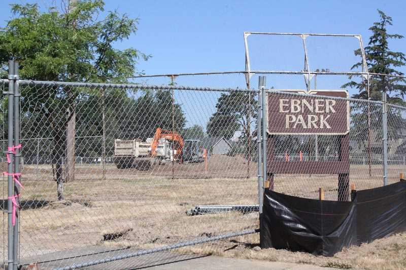 Photo Credit: LINDSAY KEEFER - Construction at Ebner Park started last month, with an anticipated completion by mid-September.