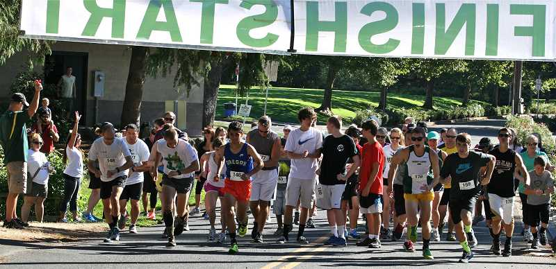 Photo Credit: TIDINGS FILE PHOTOS - Close to 100 runners turned out for the first annual Dash With the Debs in 2013. The 5K fun run/walk will be held this year at Sunset Park.