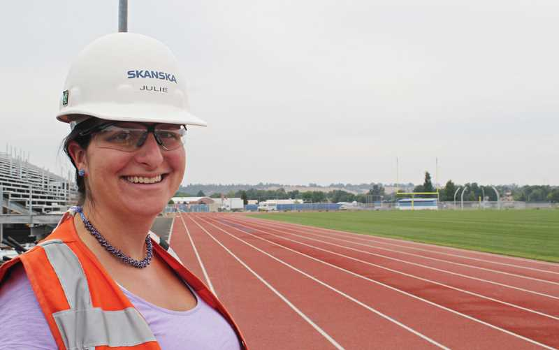 Photo Credit: HOLLY M. GILL - The track is completely finished, according to Julie Hyer, project manager.