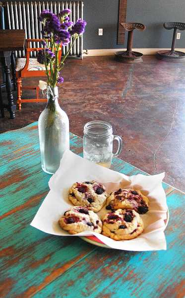 Photo Credit: ESTACADA NEWS PHOTO: ISABEL GAUTSCHI - Estacada may give Portland a run for its money with its obsession with all things local. The scones are made locally. All the furniture in the restaurant was purchased locally at Wade Creek House. And of course, The Mason Jar's drinks are served in mason jars.