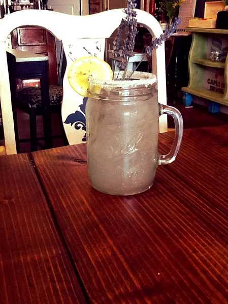 Photo Credit: CONTRIBUTED - Owner Amy Cate says that The Mason Jar's lavender lemonade has been the cafe's most popular item so far.
