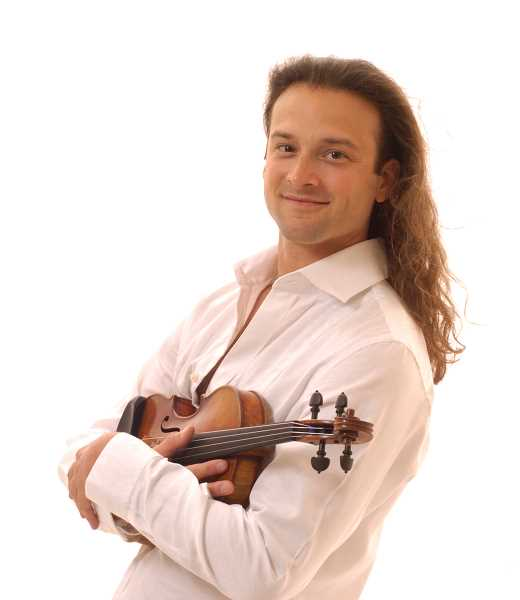 Photo Credit: SUBMITTED PHOTOS - Classic rock violinist Aaron Meyer will present a concert Sunday at Millennium Plaza Park.