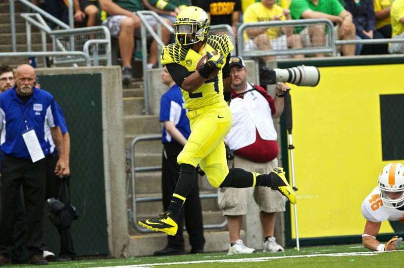 Photo Credit: PORTLAND TRIBUNE FILE PHOTO - Thomas Tyner, the University of Oregon sophomore running back from Aloha High, says he comes into his second college season much better prepared to contribute consistently for the Ducks.