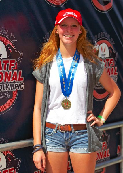 Photo Credit: SUBMITTED PHOTO - THE BEST -- Lauren McFall won a national title in the javelin.