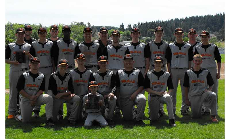Photo Credit: PHOTO COURTESY OF NICOLE FRANCO - The Molalla Indians' summer league team finished in fifth place and earned the sportsmanship award at the 16-team Oregon Junior State Baseball Association Division I state tournament.