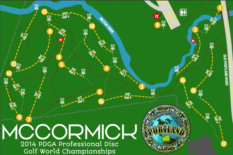 Though it will only be used about half as much as the other five courses chosen, McCormick has a chance to be a part of history: the first ever professional disc golf world championships in Portland.