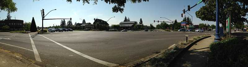 Photo Credit: SPOKESMAN PHOTO: JOSH KULLA - The Wilsonville-Boones Ferry Road intersection is one of the busiest junctions in Wilsonville. Even a 2011 expansion of the I-5-Wilsonville Road interchange a block east has failed to halt ongoing traffic congestion during peak hours, forcing city officials to look for a new fix.