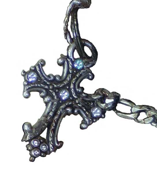 Photo Credit: SUBMITTED PHOTO - A man found dead between Wilsonville and Aurora was wearing this chain and cross.