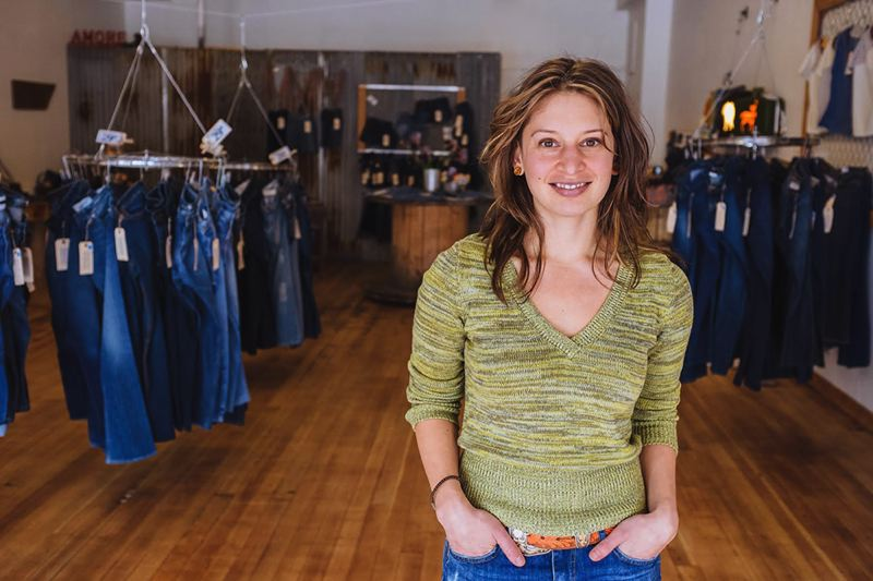 Photo Credit: PHOTO BY: JOSH CHANG - Oregon Citys Denim Salvage owner Tara Vincente calls Supportland her 'personal go-to' in order to discover and be inspired by local businesses.
