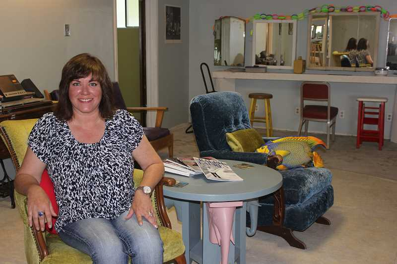 Photo Credit: SUSAN MATHENY/MADRAS PIONEER - Owner Regina Macko has remodeled the salon with antiques.