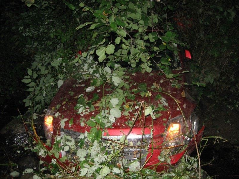 Photo Credit: CONTRIBUTED PHOTO: MULTNOMAH COUNTY SHERIFFS OFFICE - First responders had difficulty finding Hurst's car due to the dark and wooded terrain.