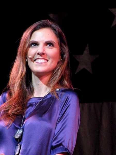 Photo Credit: PHOTO COURTESY OF PATRIOT TOUR - Since her husbands death, Taya Kyle, the daughter of Lake Oswego Mayor Kent Studebaker, has signed on as part of the Patriot Tour, a group whose members speak to audiences about veterans issues and the sacrifices of their families.
