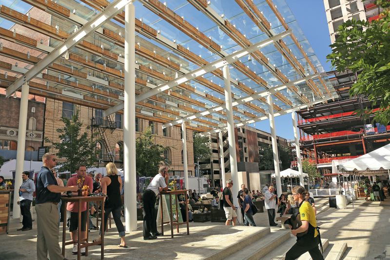 Photo Credit: TRIBUNE PHOTO: JAIME VALDEZ - Director Park attracts all sorts of people with a variety of programs.
