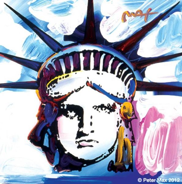 Photo Credit: COURTESY OF PETER MAX - The exhibit of work by iconic artist Peter Max at Pioneer Place will include Statue of Liberty.