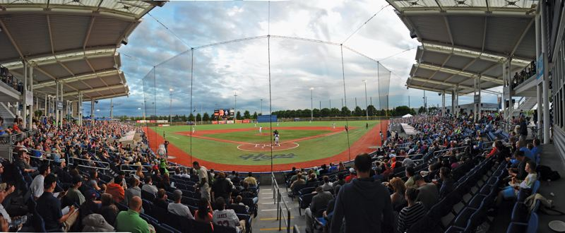 Photo Credit: JOHN WILLIAM HOWARD - The Hillsboro Hops, the Portland area's only professional baseball team, play at Ron Tonkin Field, a 15.5 million dollar stadium opened in June of 2013. The venue holds up to 4,500 spectators for baseball.