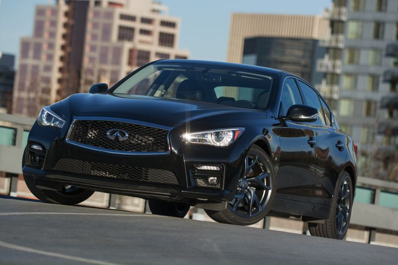 Photo Credit: JOHN M. VINCENT - With an aggressive design and a highly sculpted body, the 2014 Infiniti Q50S looks ready to tackle the most challenging of roads.