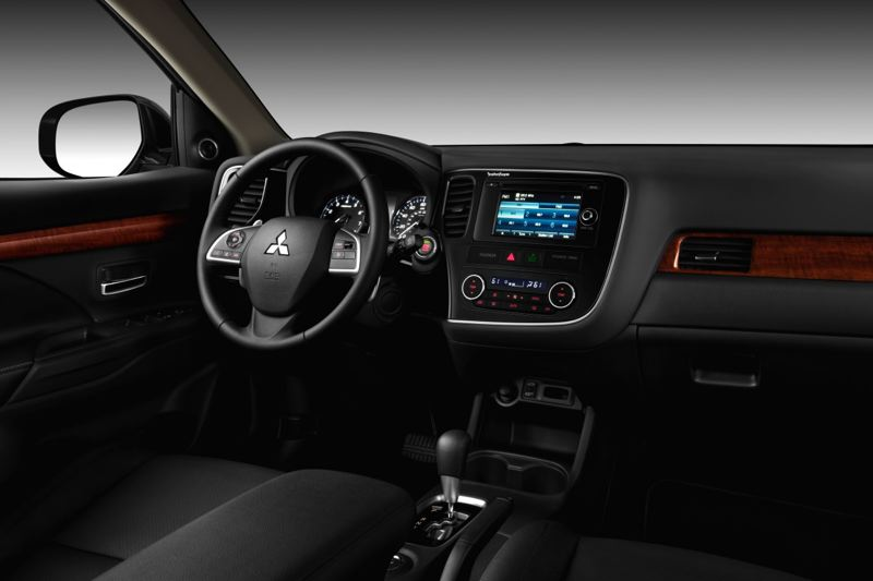 Photo Credit: MITSUBISHI MOTORS - The interior of the 2015 Mitsubishi is cleanly styled, with easy to use controls.