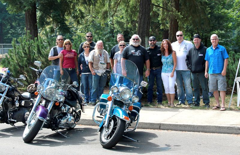 Photo Credit: CONTRIBUTED PHOTO - The ride is in support of a plumber's wife, Sandy Bowman, who is in the midst of beating leukemia.