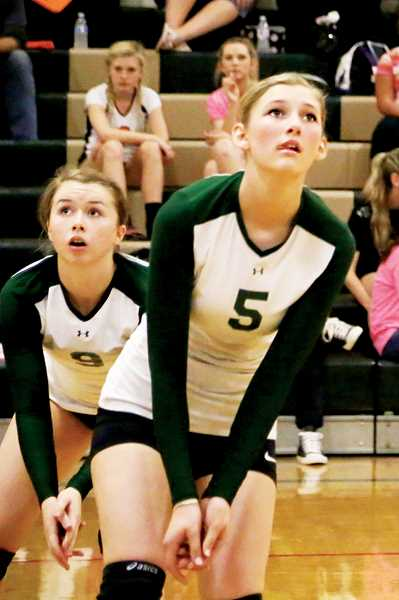 Photo Credit: JO WHEAT - Juniors Jessica Oliver (left) and Karly Griffin are expected to fill bigger roles on the Huskies this season after the team graduated four starters in the spring.