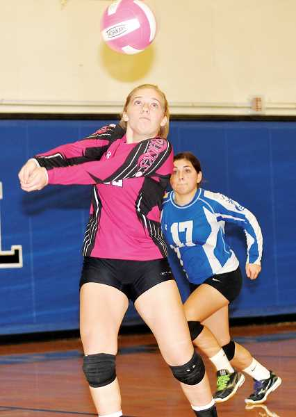 Photo Credit: SETH GORDON - Junior libero Cameron Stone returns to the Bucks after making the Casco all-conference team in each of her first two years at St. Paul.