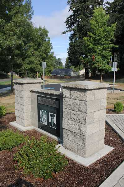 Photo Credit: LINDSAY KEEFER - The Marion E. Carl Veterans Memorial was dedicated two years ago, but it wasn't until last month that a parking lot to accommodate visitors was added, thanks to local volunteer fundraising efforts.