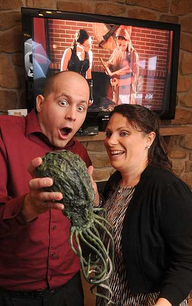 Photo Credit: REVIEW PHOTO: VERN UYETAKE - J.R. Ralls is making the movie 'Dark Dungeons' with the love and whole-hearted blessing of his wife, Suzy Ralls.