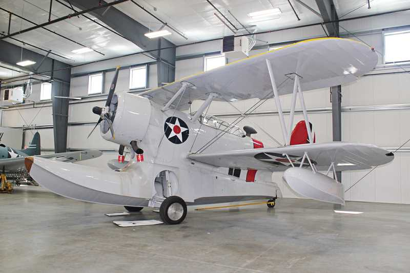 Photo Credit: HOLLY M. GILL - The Grumman J2F-6 Duck, a single-engine amphibious aircraft, built at the end of World War II, is one of 21 aircraft on display as part of the Erickson Aircraft Collection at the Madras Municipal Airport.