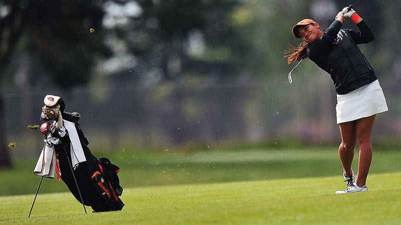 Photo Credit: SCOBEL WIGGINS - PLAYING STRONG -- Tualatin High School graduate Seshia-Lei Telles had a record-setting career during her four-year stint playing for the women's golf team at Oregon State University.