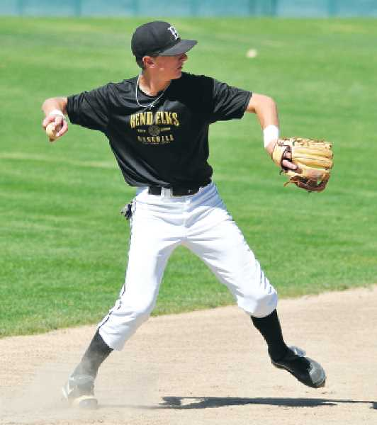 Photo Credit: CENTRAL OREGONIAN FILE PHOTO - J.D. Larimer played two years of baseball at Treasure Valley Community College as well as playing for the Bend Elks in the summer. Larimer has signed a letter of intent to play at North Dakota State.