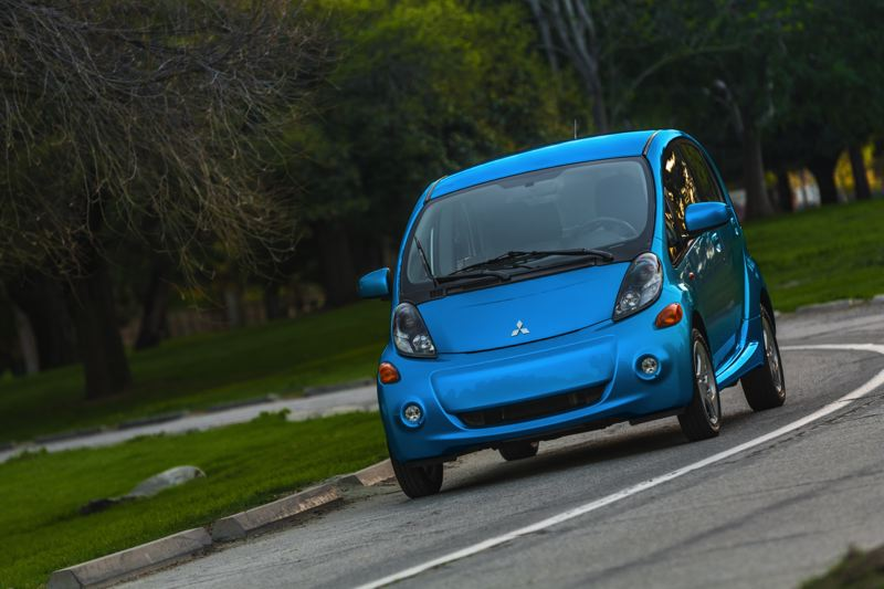 Photo Credit: MITSUBISHI MOTORS - Despite it's unconventional looks, the Mitsubishi MiEV is a real car and now the cheapest all-electrric car in America.