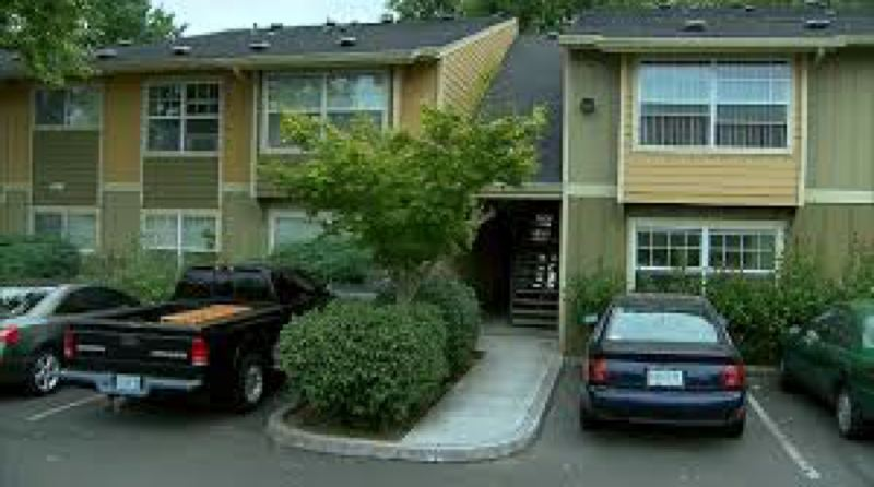 Photo Credit: KOIN-6 NEWS - Forest Grove resident Nicole Laube, 29, was stabbed to death in this parking lot of The Commons at Timber Creek apartment complex in Cedar Mill on Tuesday just after 5 p.m.