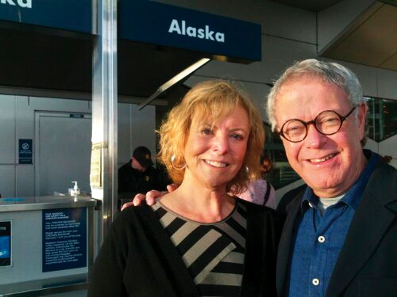 Photo Credit: CONTRIBUTED PHOTO - Louise Lague and Tom Lichty started their 12-month adventure with their spring 2013 departure from Portland International Airport.