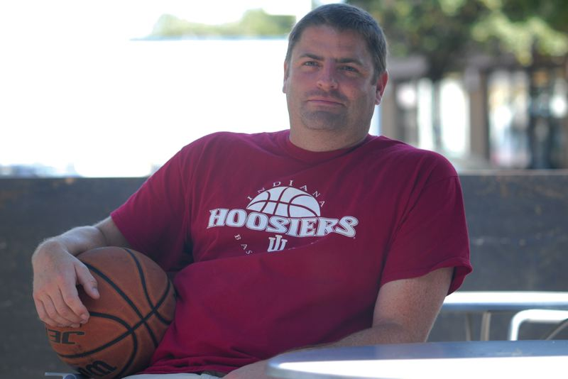 Photo Credit: SANDY POST: DAVID BALL - Ted Aubin, a 1992 Sandy High graduate, has been hired to coach boys basketball at Reynolds High this year after earlier stays at smaller schools in Vernonia and Burns.