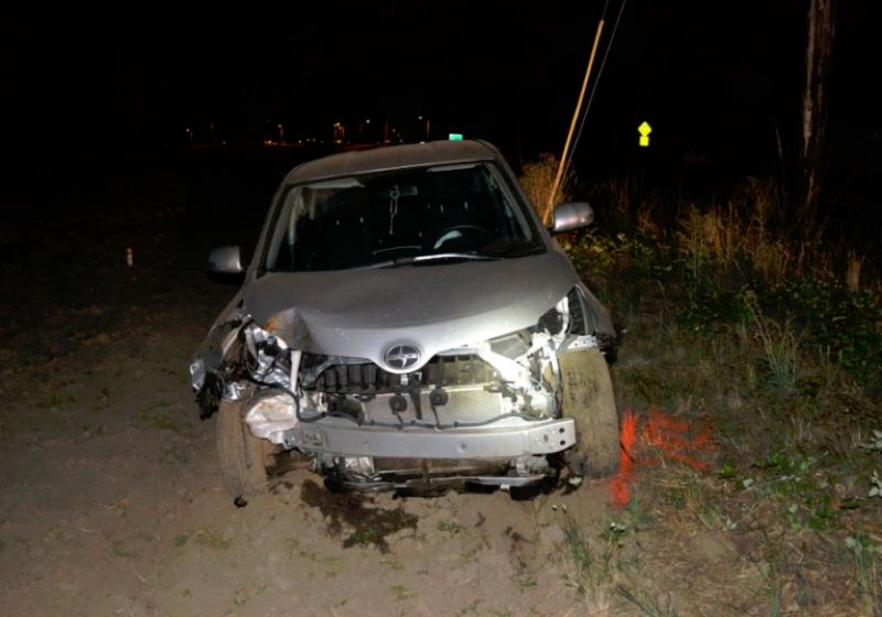 Photo Credit: WASHINGTON COUNTY SHERIFF'S OFFICE - This 2013 Scion XD driver by Javier Martinez-Becerril hit a power pole and was heavily damaged.