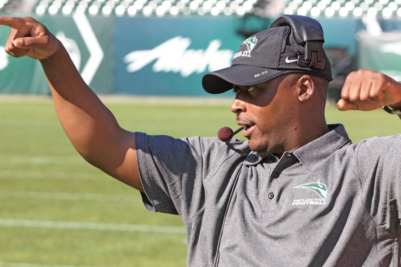 Photo Credit: COURTESY OF PORTLAND STATE UNIVERSITY - Portland State coach Nigel Burton says the Vikings were close in 2013 to having the greatest Division I season in school history - and that his players now know about the little things that can bring them that kind of success this year.